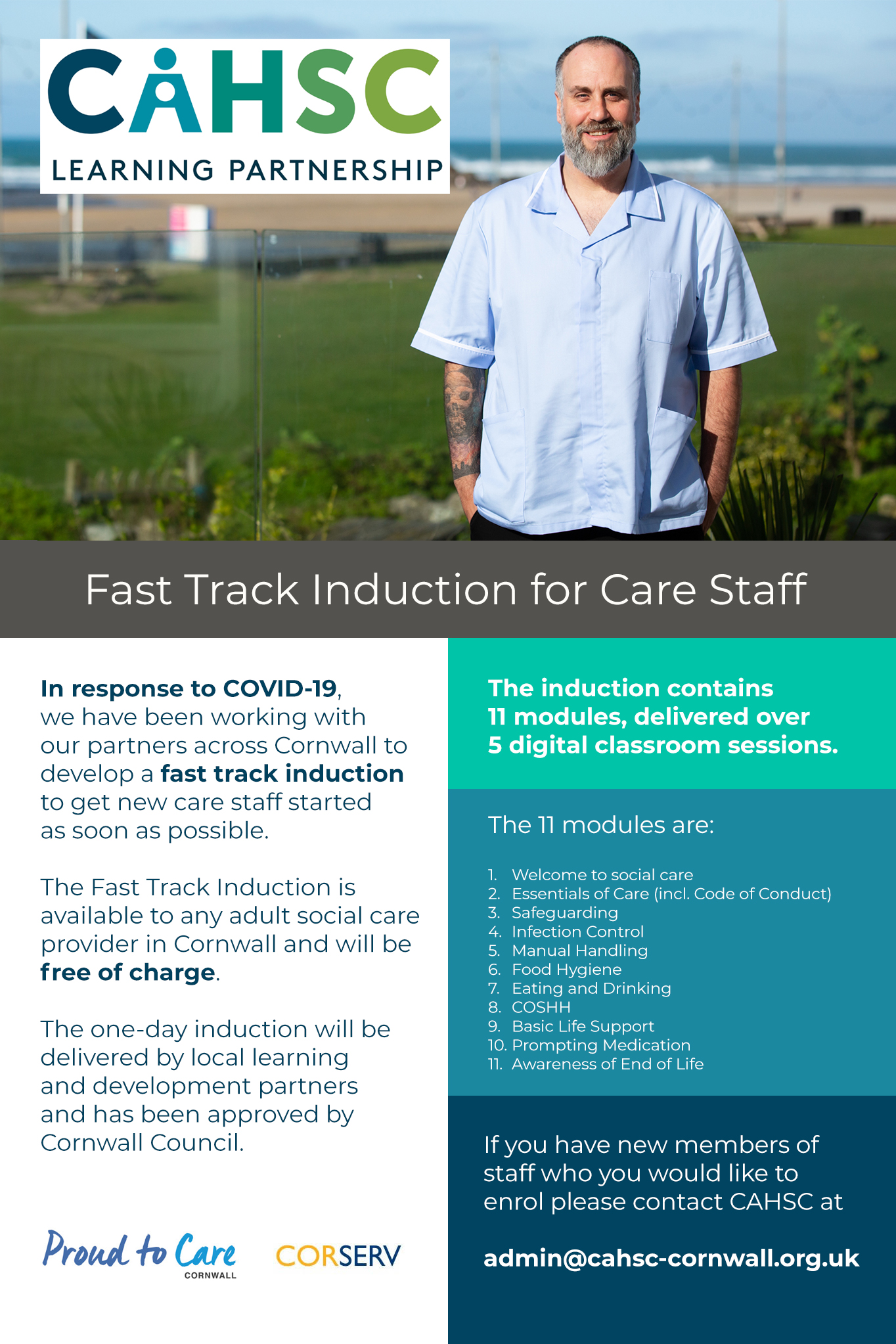 CAHSC fast track induction