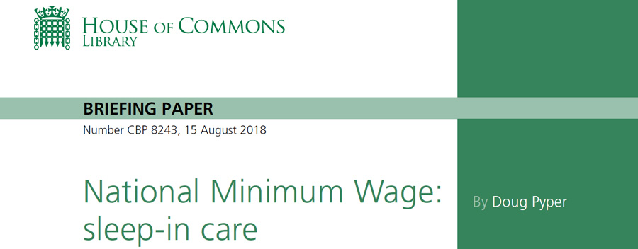 Sleep ins and National Minimum Wage